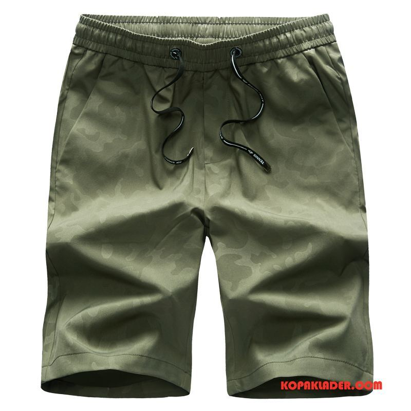 Herr Byxor Billiga Sommar Trend Casual Lösa Shorts Army Grön