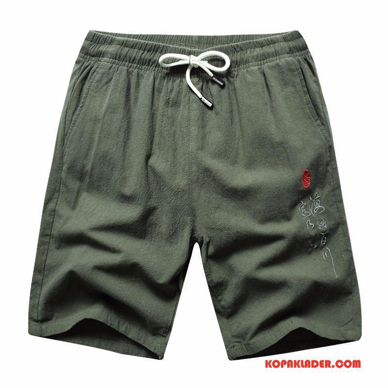 Herr Byxor Billigt Bomull Shorts Casual Trend Sommar Army Grön