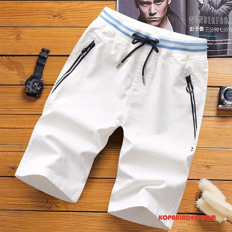 Herr Byxor Billigt Capri Byxor Shorts Trend Kortbyxor Sommar Vit