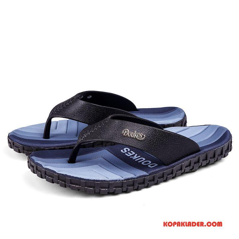 Herr Flip-flops Billiga Tofflor Flip Flops Personlighet Sommar Student Svart