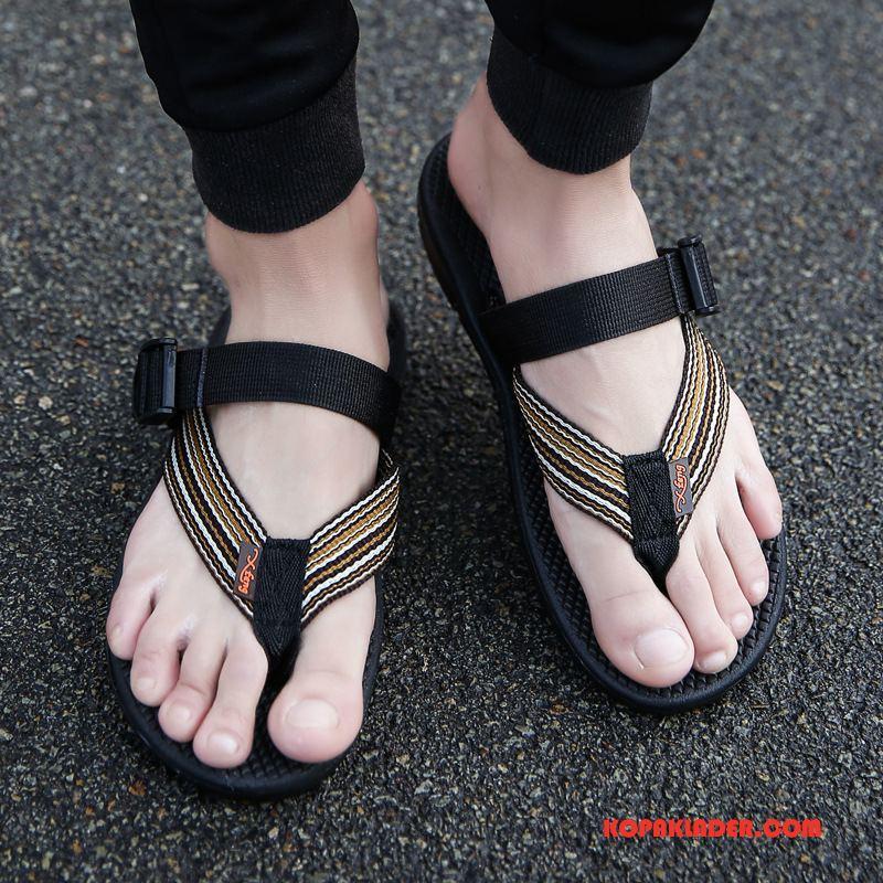 Herr Flip-flops Butik Utomhus Casual Trend Sommar Tofflor Svart
