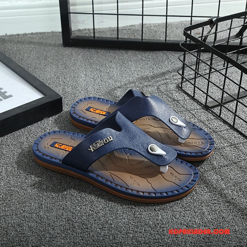 Herr Flip-flops Rea Sommar Utomhus Trend Flip Flops Casual Blå