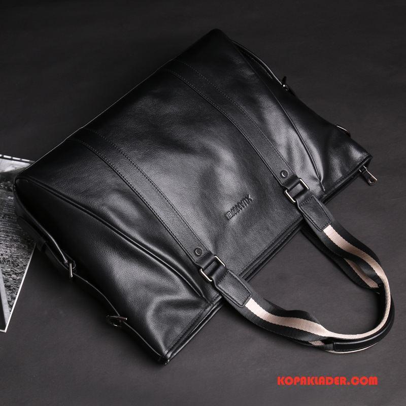 Herr Handväskor Billiga Män Väska Casual Messenger Väska Handväska Svart