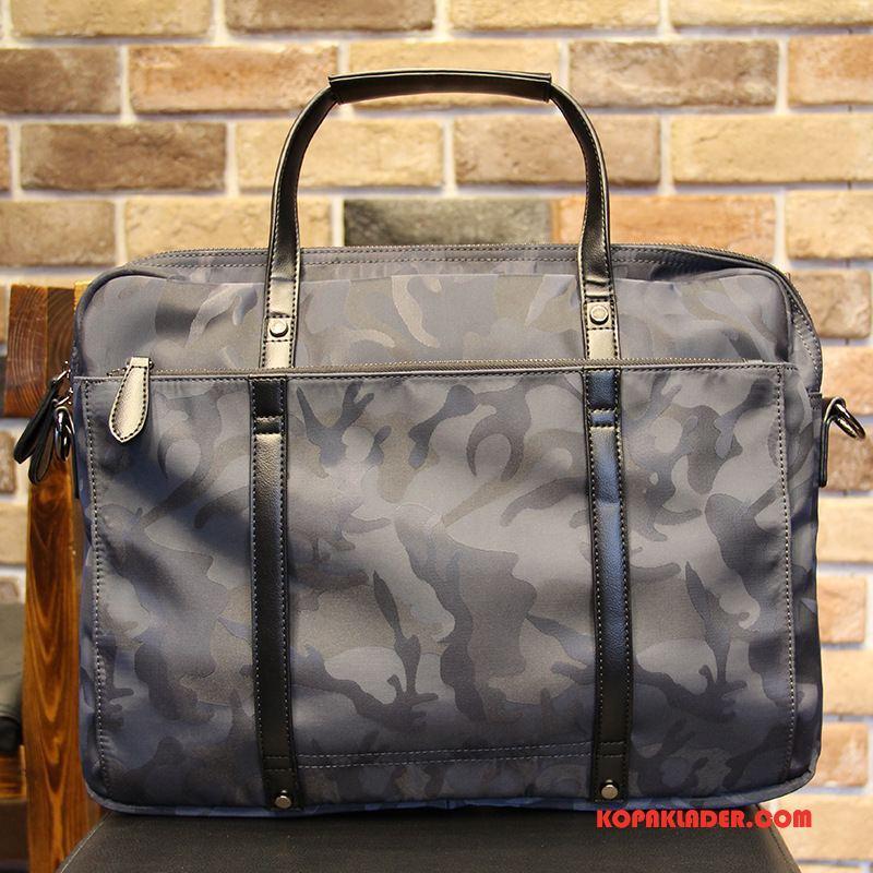 Herr Handväskor Billigt Messenger Väska Casual Handväska Mode Män Camouflage Blå