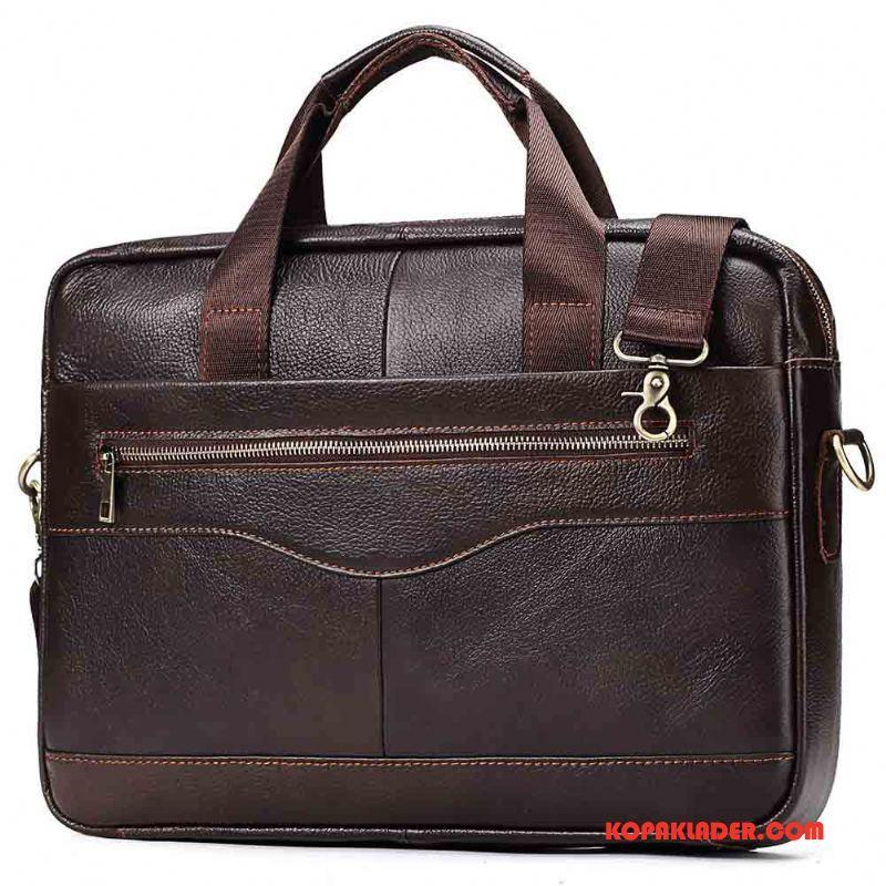 Herr Handväskor Billigt Stor Kapacitet Väska Business Portfölj Män Brun