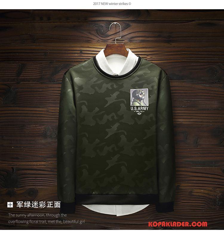 Herr Huvtröjor Köpa Mode Hålla Sig Varm Populär Huvtröja Stad Army Grön