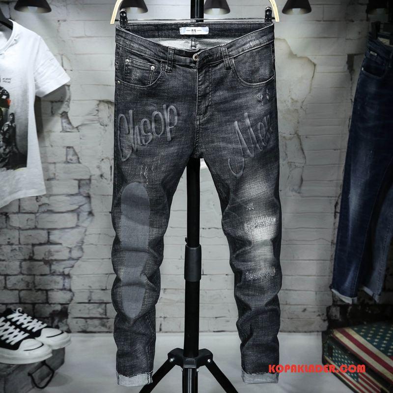 Herr Jeans Billigt Sommar Mode Vår Ny 2018 Svart