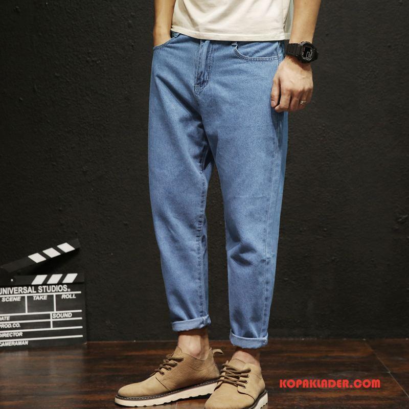 Herr Jeans Billigt Trend Harlan Män Mode Ljusblå