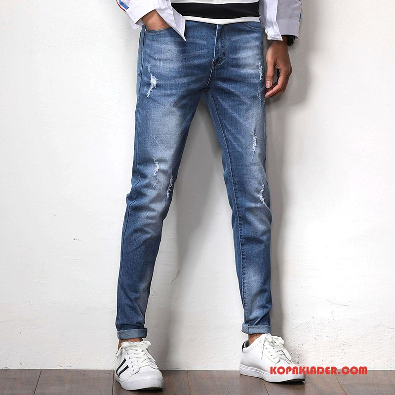 Herr Jeans Köpa Mode 2018 Ny Blå