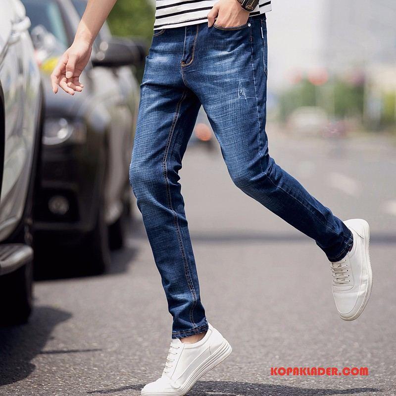 Herr Jeans Online Cigarettbyxor 2018 Sommar Ny Mode Blå