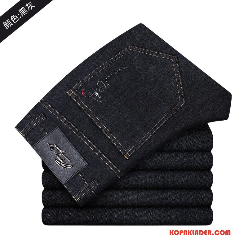 Herr Jeans Online Ny Casual Slim Fit Liten Business Svart