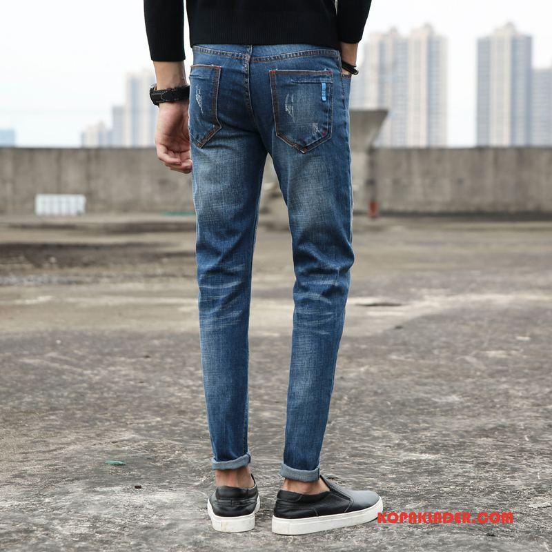 Herr Jeans Online Ungdom Trend Liten Rakt Män Blå