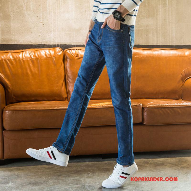 Herr Jeans På Nätet Business Män Trend Denim Casual Blå
