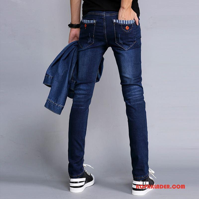Herr Jeans På Nätet Stretch Mode Cigarettbyxor Blå