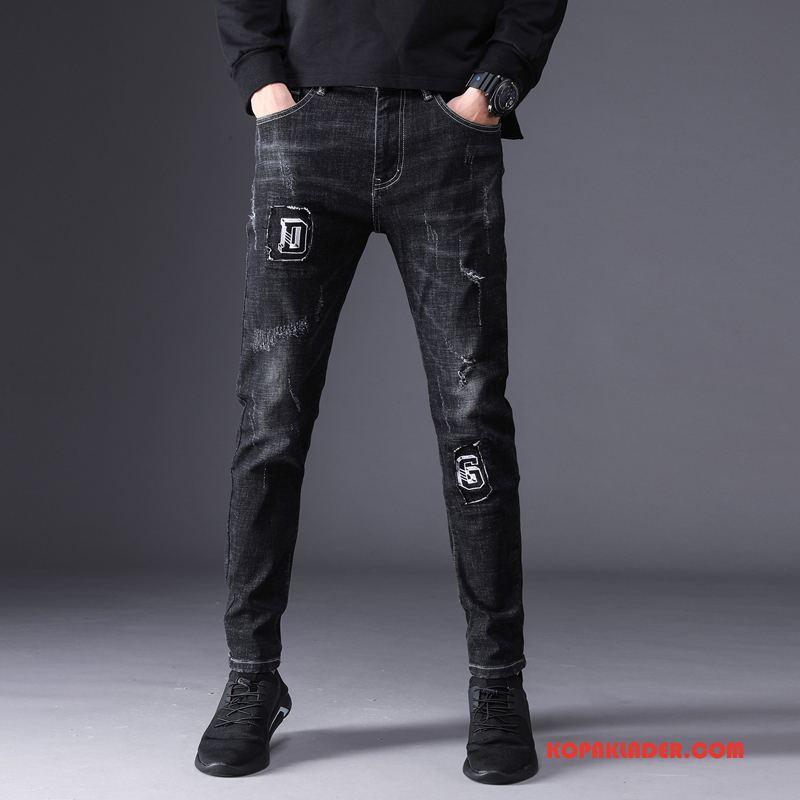Herr Jeans Rea Trend Varumärke Denim Mode Byxor Svart