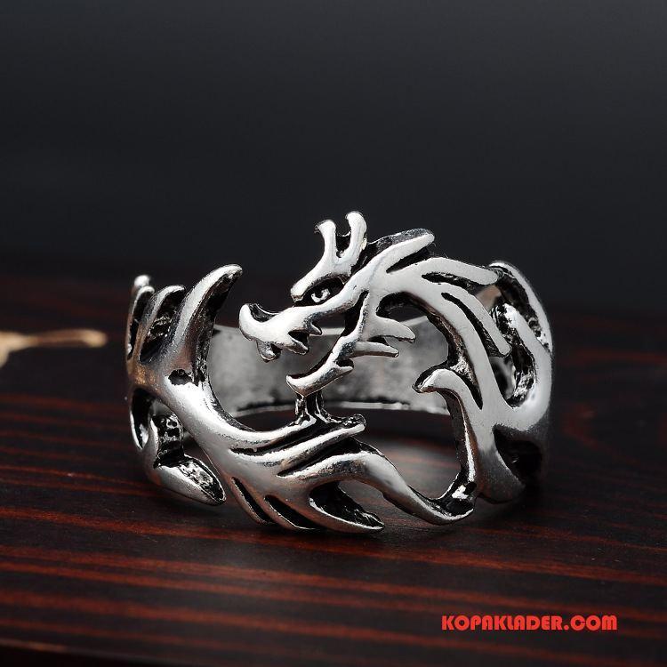 Herr Silver Smycken Billig Accessoar Kinesisk Drake Bra Försäljning Trend Män Silver