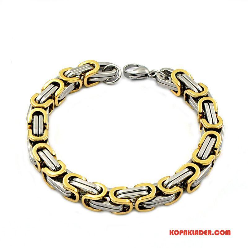 Herr Silver Smycken Billigt Män Trend Europa Armband Guld Silver