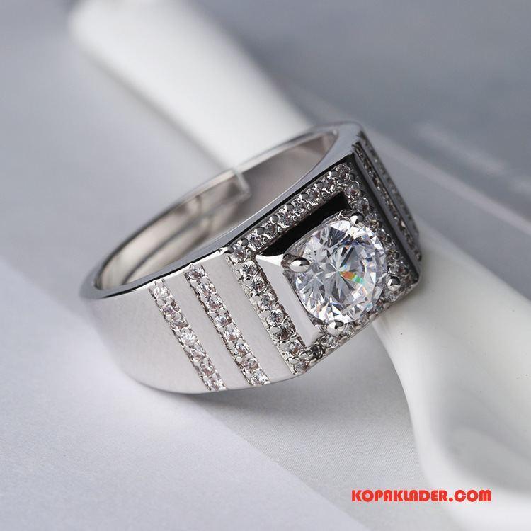 Herr Silver Smycken Billigt Stor Män Gåva Par Ny Vit