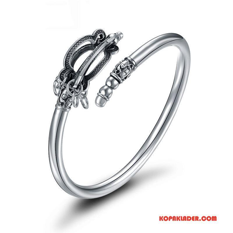 Herr Silver Smycken Köpa Originalitet Armband Män Accessoar Personlighet Silver