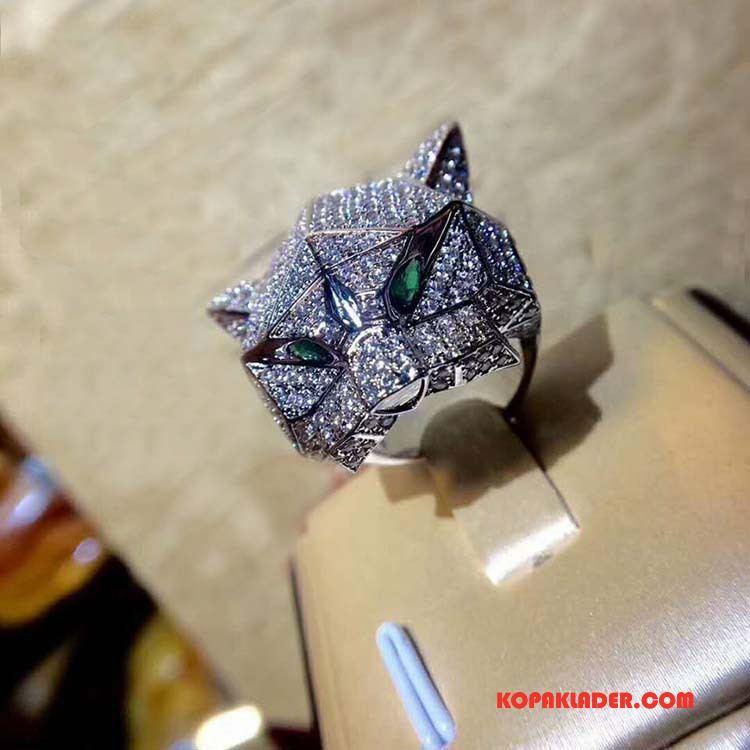 Herr Silver Smycken Online Kvalitet Mode Män Guld Grön