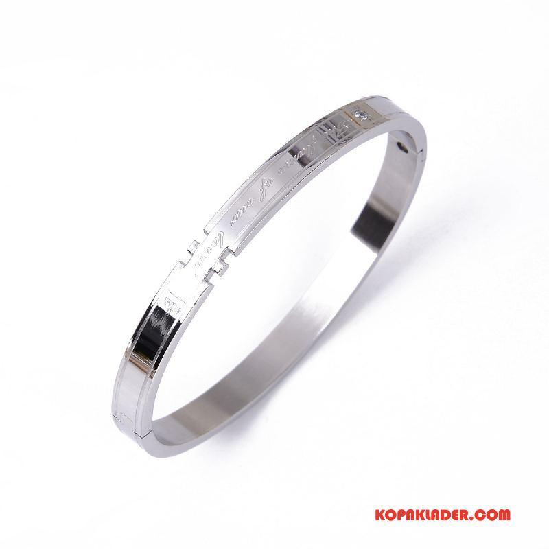 Herr Silver Smycken På Rea Armband Män Mode Par Enkel