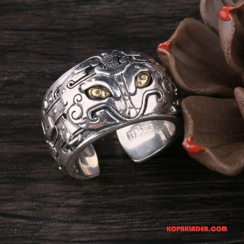 Herr Silver Smycken På Rea Stil Ren Gåva Män Par Silver