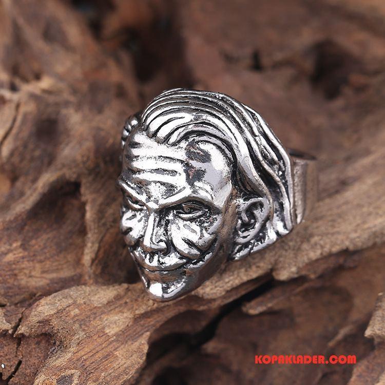 Herr Silver Smycken Till Salu Män Personlighet Retro Mode Accessoar Guld Silver