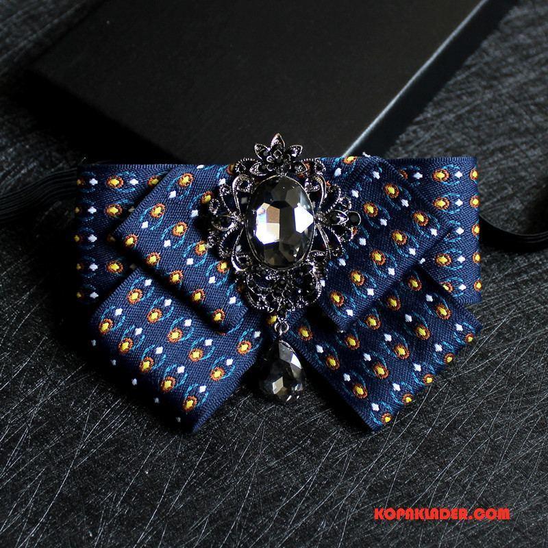 Herr Slipsar Butik Dräkter Trend Knight Halsband Blomma Män Blå