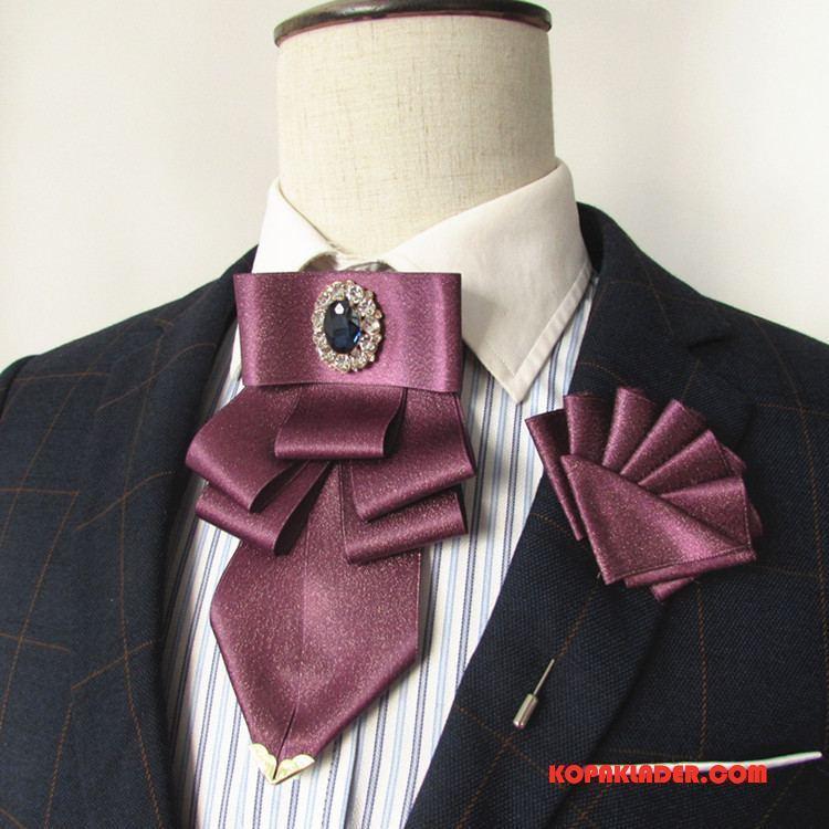 Herr Slipsar Online Allt Matchar Mode Män Kvinna Fluga Violett