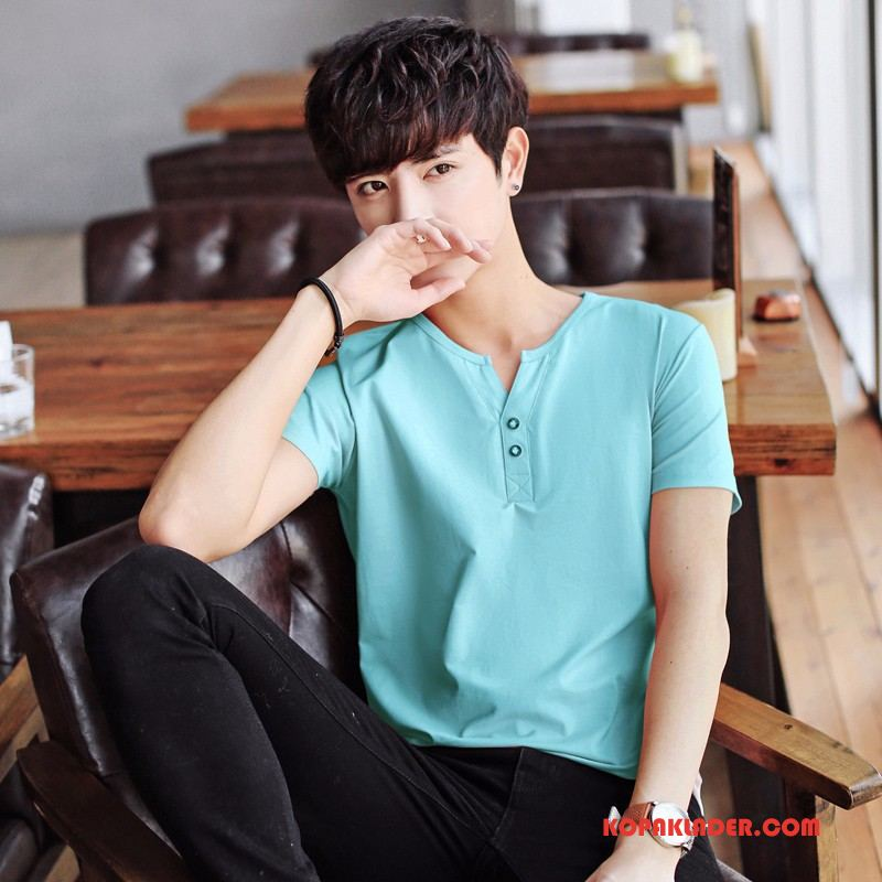 Herr T-shirts Billiga Super Kortärmad Toppar Trend Kinesisk Drake Blå