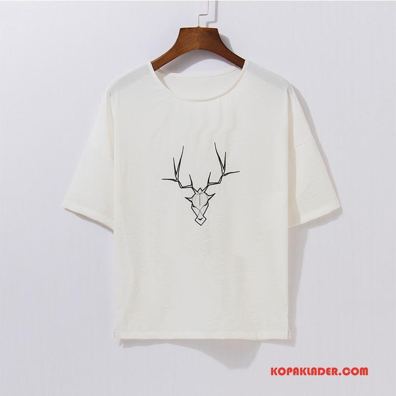 Herr T-shirts Billigt Trend Varumärke Vit