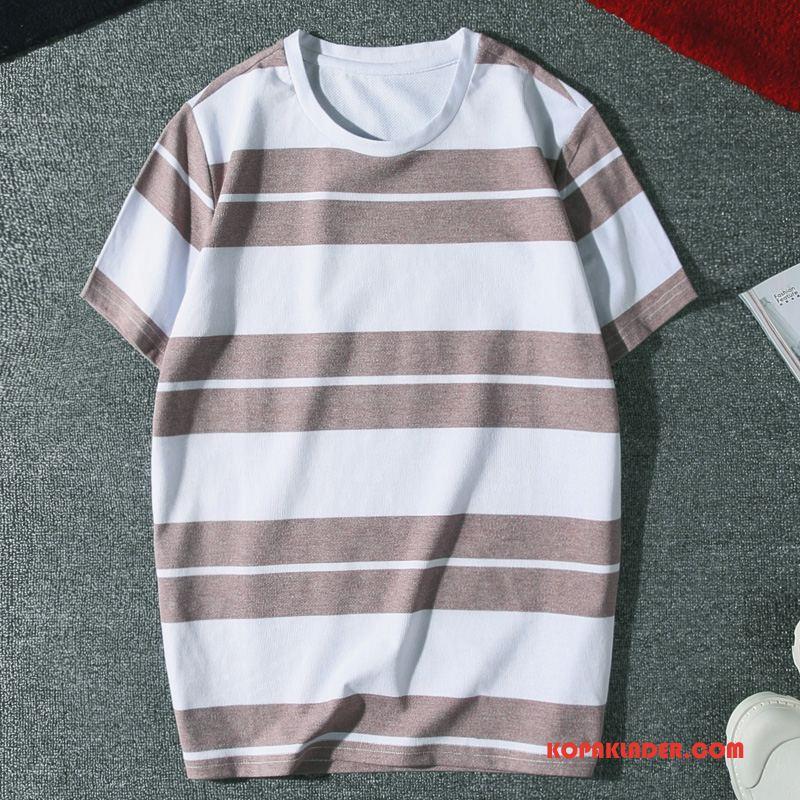 Herr T-shirts Köpa Student Trend Män Slim Fit Kortärmad Purpur