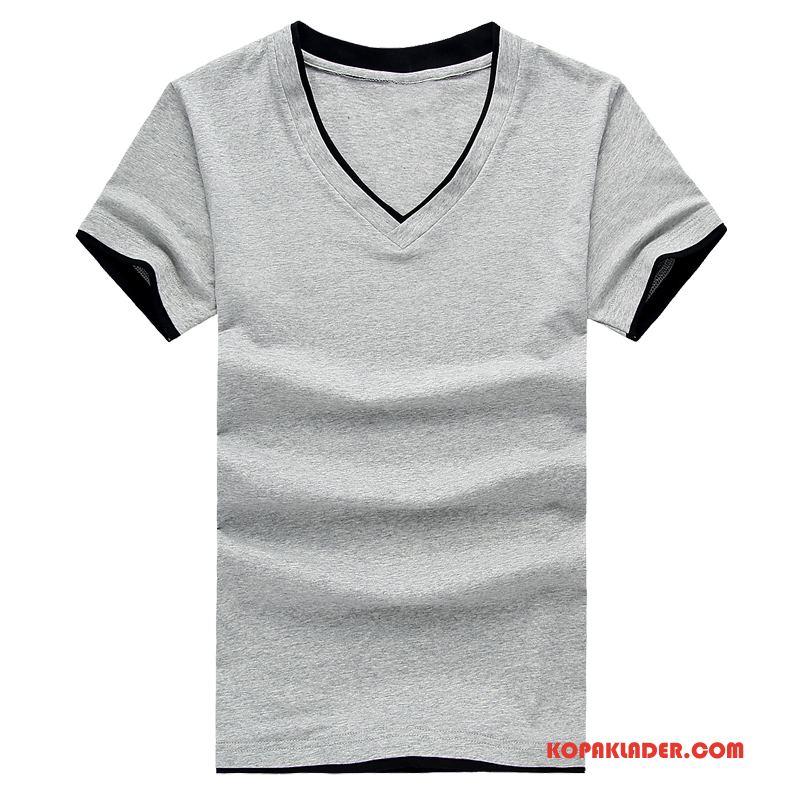 Herr T-shirts Köpa Toppar Rund Hals Trend Halv Ärm Kortärmad Till Grå