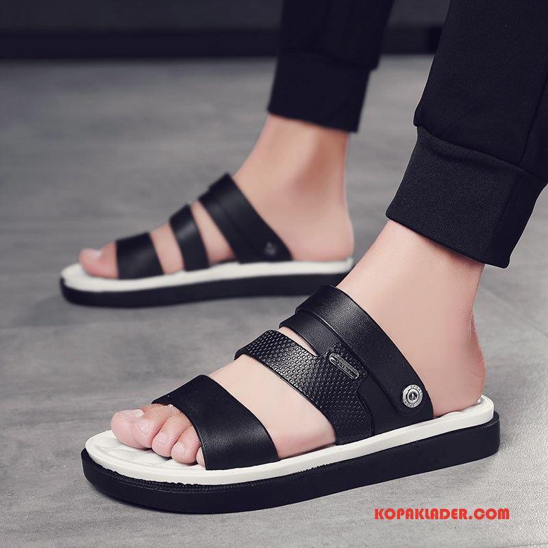 Herr Tofflor Billig Mode Glidskydds Sandaler Ytterkläder Personlighet Svart