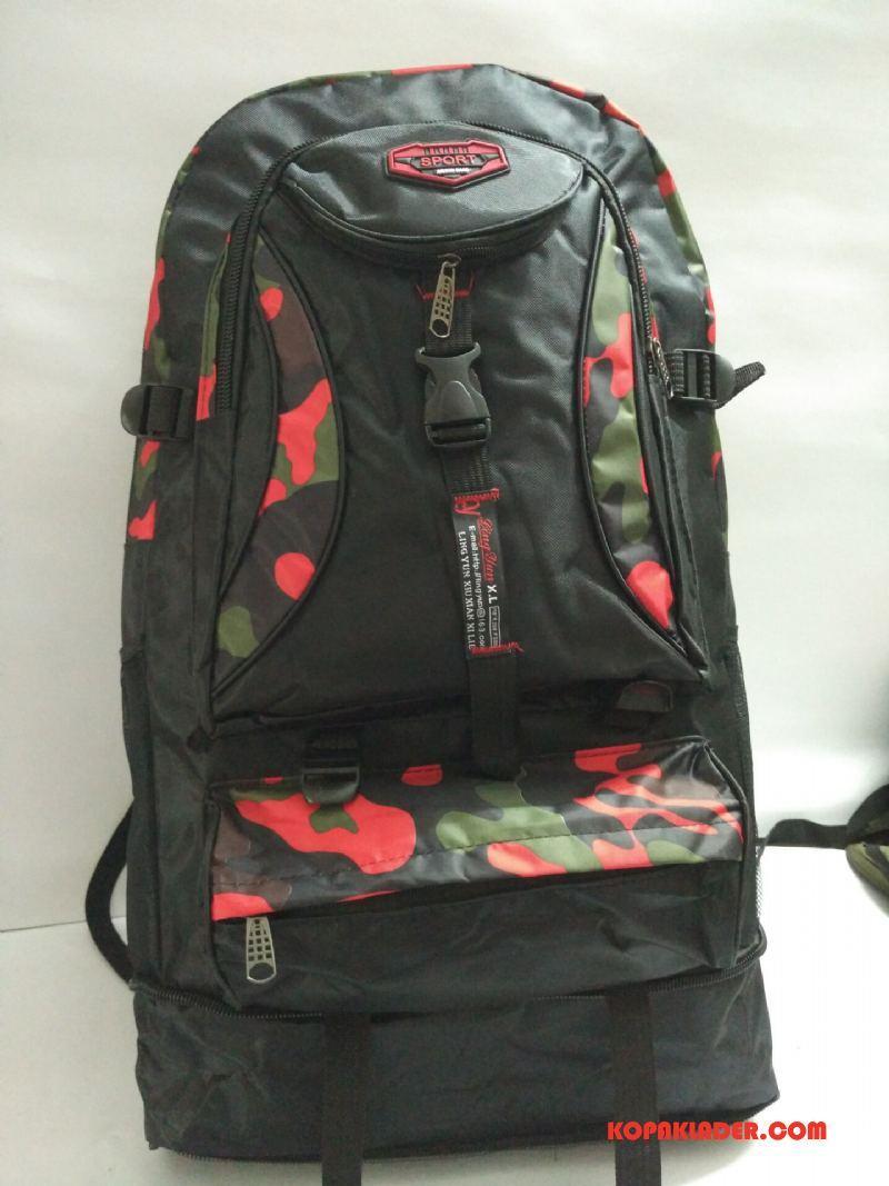 Herr Vandringsryggsäck Billig Sport Friluftsliv Resa Camping Camouflage Röd