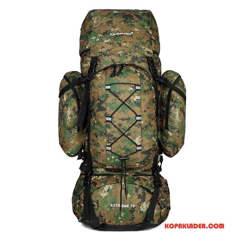 Herr Vandringsryggsäck På Nätet Friluftsliv Resa Väska Sport Män Camouflage Grå Vit